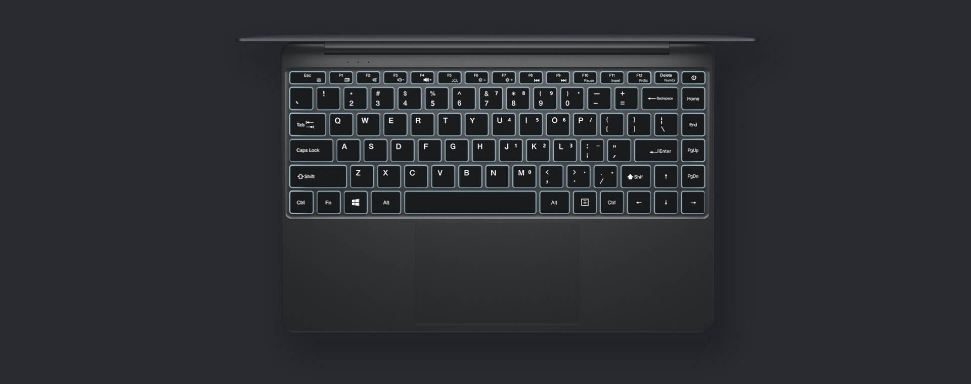 Teclast F7 Plus Laptop Backlight Keyboard